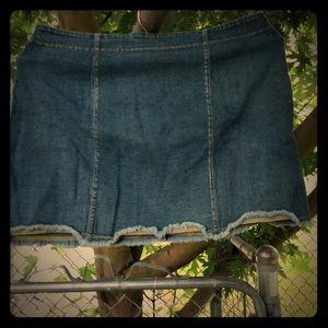 Victoria's Secret stretch denim miniskirt